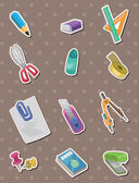 Stationery stickers — Stock Vector