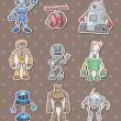 Robot stickers — Stock Vector #10379435