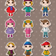 Royalty-Free Stock Vector Image: Kid stickers