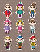 Kid stickers — Stock Vector