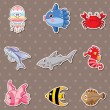 Royalty-Free Stock Vector Image: Fish stickers