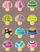 Mushroom stickers — Stock Vector