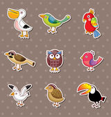 Bird stickers — Stock Vector