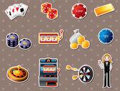 Casino stickers — Stok Vektör