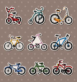 Cartoon Bicycle stickers — Stock Vector