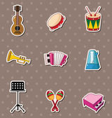 Music stickers — Stock Vector