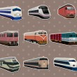 Stok Vektör: Train stickers