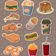 Fast food stickers — Stock Vector #10499818