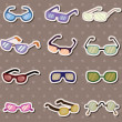 Glasses stickers — Stock Vector
