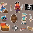 Pirate stickers — Stock Vector #10545969