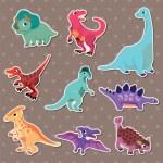 Dinosaur stickers — Stock Vector #10545981
