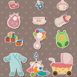 Baby stuff stickers — Stock Vector #10545985