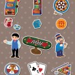 Royalty-Free Stock Vector Image: Casino stickers