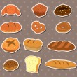 Bread stickers - Stock Vector