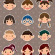 Kid face stickers — Stock Vector