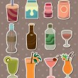 Stock Vector: Drink stickers