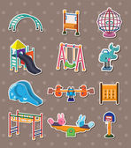 Park stickers — Stock Vector