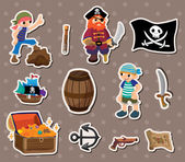 Pirate stickers — Stock Vector