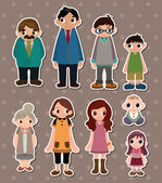 Family stickers — Stock Vector
