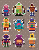 Cartoon robot sticers — Stock vektor