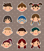 Kid face stickers — Vetorial Stock