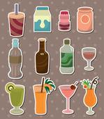 Drink stickers — Stock Vector