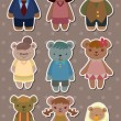 Bear family stickers - Image vectorielle