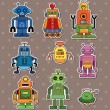 Robot stickers — Stock Vector #10608865
