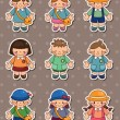 Stock Vector: Kid stickers