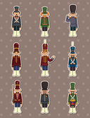 Cartoon Toy soldiers stickers — Vecteur