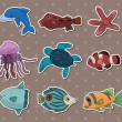 Stock Vector: Fish stickers