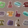 Retro phone stickers — Stock Vector