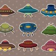 Ufo stickers — Stock Vector #10698683