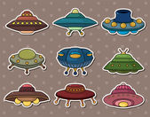 Ufo stickers — Stock Vector
