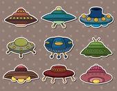 Ufo stickers — Stock Vector