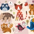 Royalty-Free Stock Vector Image: Cute animal zoo