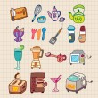 Kitchen appliances icon — Stock Vector