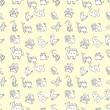 Royalty-Free Stock Vector Image: Seamless cute animals pattern,vector illustration