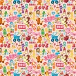 Cartoon baby seamless pattern — Stock Vector