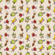 Royalty-Free Stock Vector Image: Cute cartoon seamless pattern,vector illustration