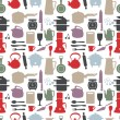 Seamless kitchen pattern,vector illustration — Stock Vector