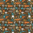 Icon seamless pattern,vector illustration — Imagen vectorial