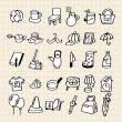 Hand draw home icon — Image vectorielle