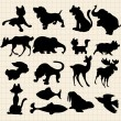Animals silhouettes — Stockvectorbeeld