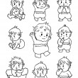 Doodle baby - Stock Vector