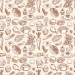 Seamless food pattern — Stock Vector #8036666