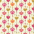 Stock Vector: Seamless love pattern