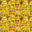 Seamless fruit pattern — Stock Vector