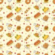 Royalty-Free Stock Vector Image: Seamless cute food pattern