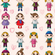 Royalty-Free Stock Vector Image: Seamless cute cartoon pattern